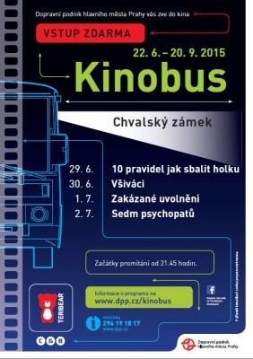 Kinobus na Chvalské tvrzi od 29. 6. do 2. 7.