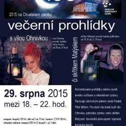 Hradozámecká noc na Chvalském zámku – večerní prohlídky s vílou Ohnivkou či skřítkem: 29. 8.