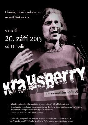 Koncert skupiny Krausberry na nádvoří Chvalského zámku: 20. 9.