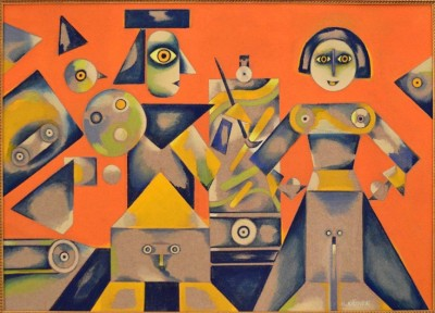 """Výstava obrazů M. Křenka """"Paralelní cestou"""": 8. 9. v 17 hod."""