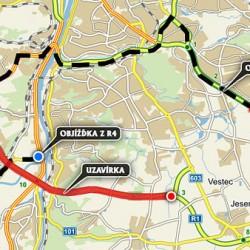 Od pátečního večera až do neděle bude uzavřena část Pražského okruhu