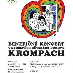 Benefiční koncert pro dětský domov v Krompachu