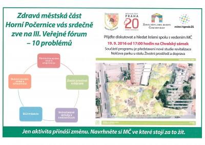 Pozvánka na III. Veřejné fórum – 10 problémů