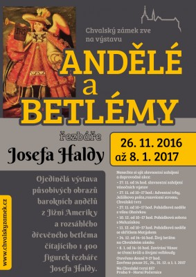 Výstava Andělé a betlémy řezbáře Josefa Haldy