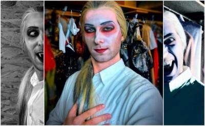 Slavnostní zahájení výstavy Dracula a ti druzí – zpěvák Tomáš Vaněk jako Herbert z Plesu upírů