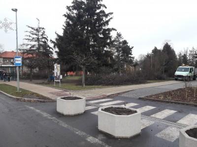 Prořezy stromů v parku před ZŠ Ratibořická