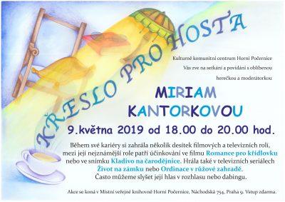 9. května 2019 Křeslo pro hosta - Miriam Kantorková