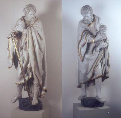 Sv. Josef a sv. Jáchym – sochy barokního sochaře Jana Jiřího Bendla na Chvalském zámku